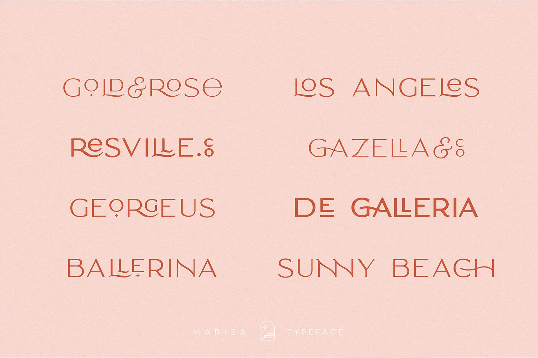 Classy Marisa - Elegant Fashion Stylish Typeface example image 25