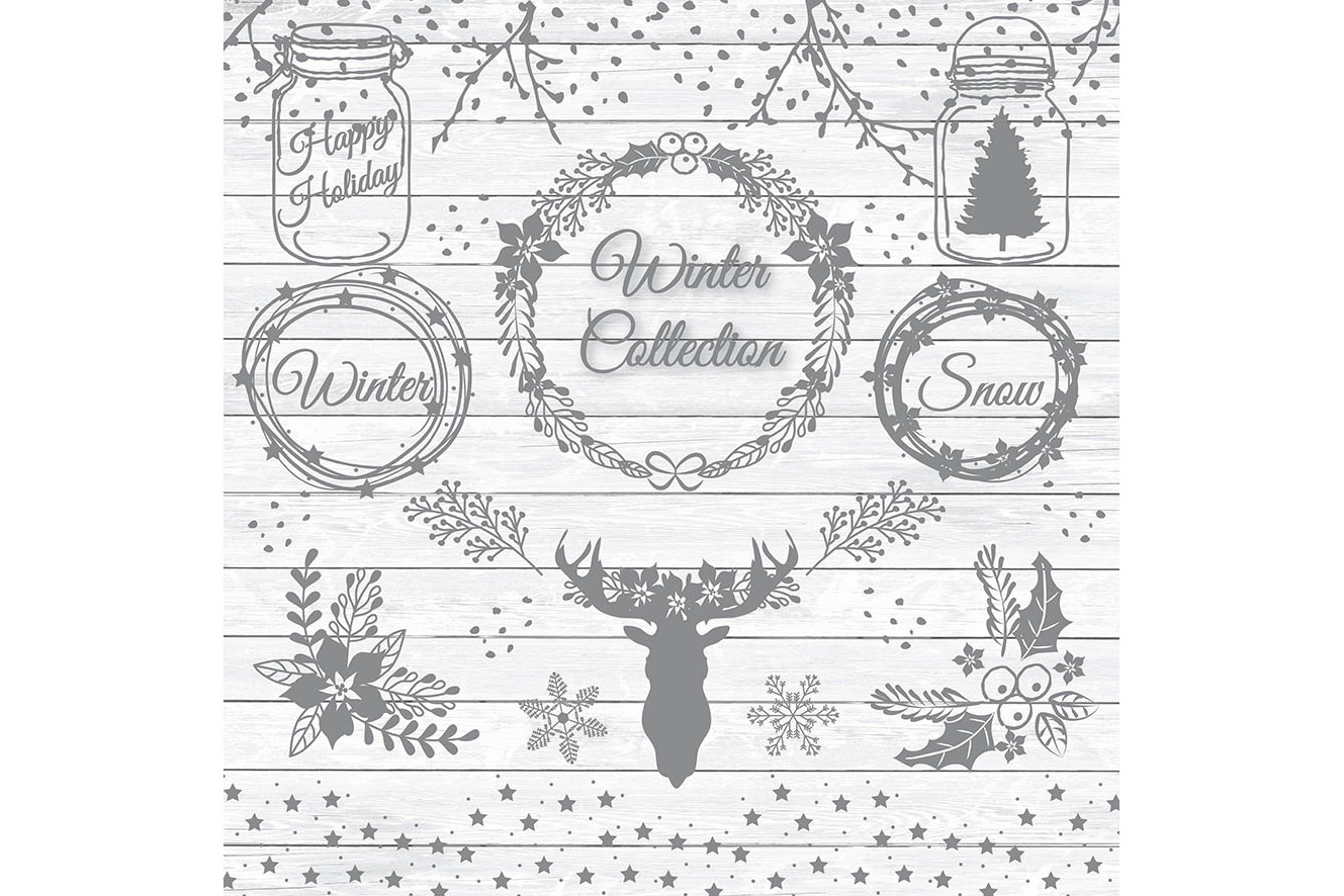 Vector rustic christmas 1 example image 3