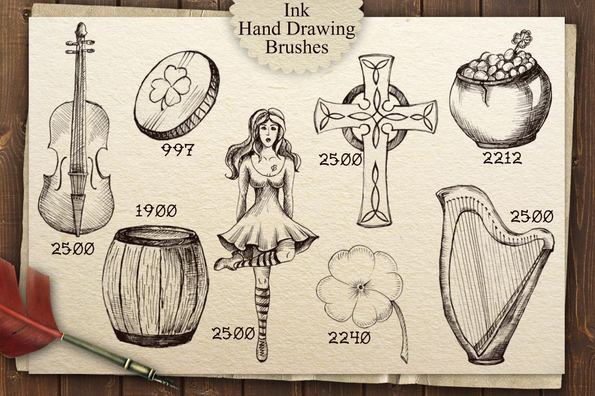 Irish Pub Ink Vintage PS Brushes example image 3