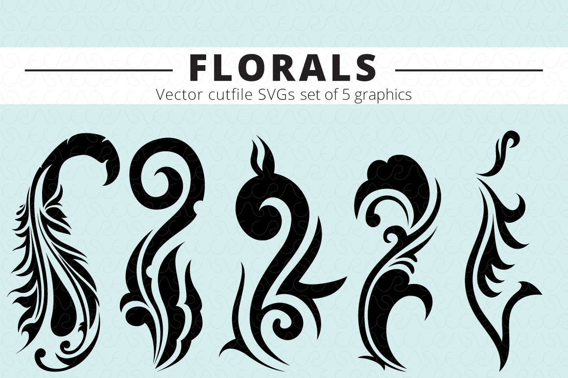 SVG Florals Cutfiles Bundle Pack of 270 vector graphic shape example image 8