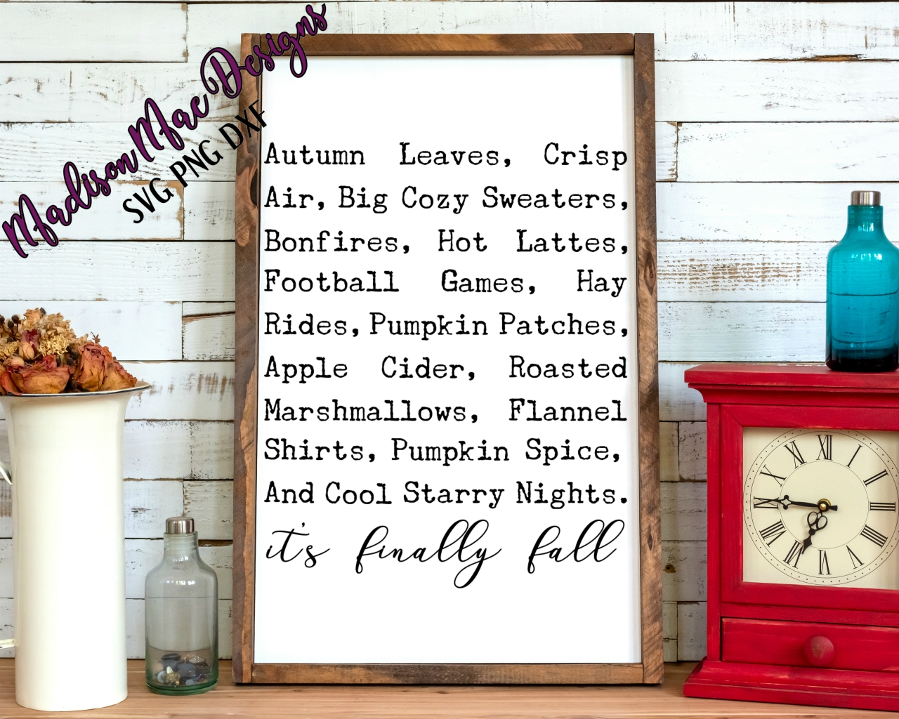 It's Finally Fall SVG Sign Design example image 2