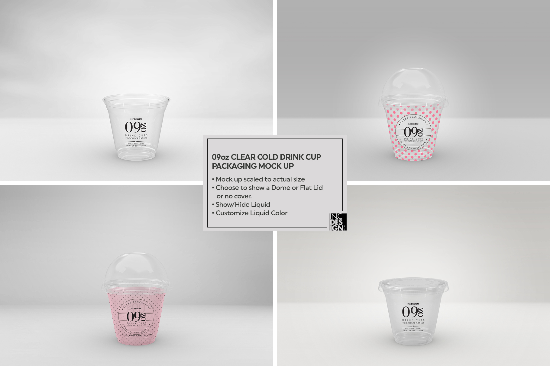 Clear Cold Drink Cups Packaging Mockup example image 11