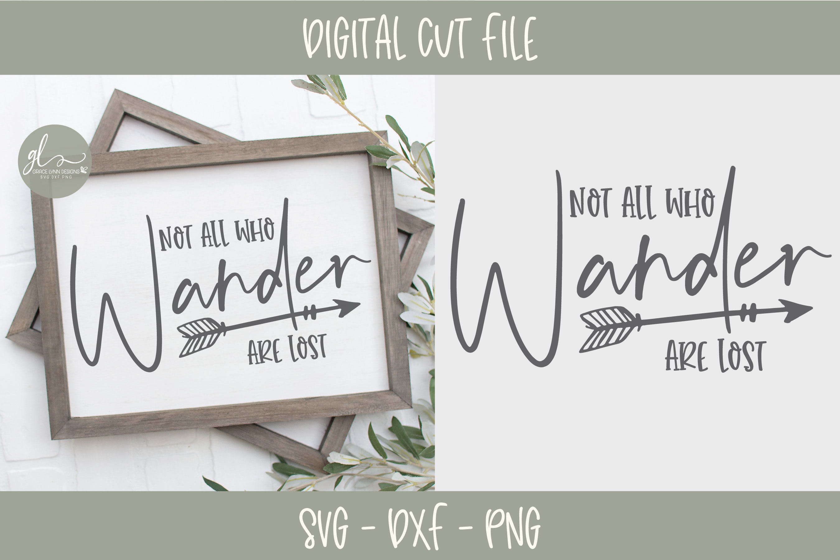 Not All Who Wander Are Lost - SVG Cut File example image 1
