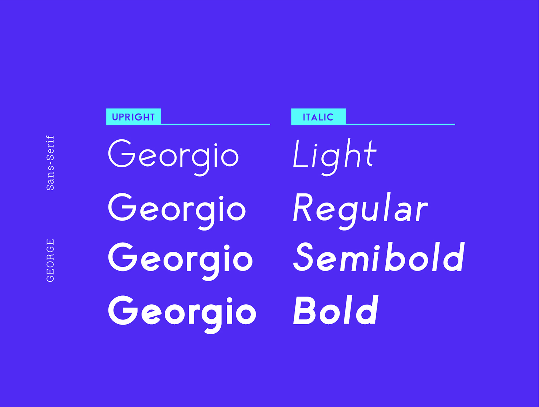 George Sans - 8 Fonts Geometric Typeface example image 6