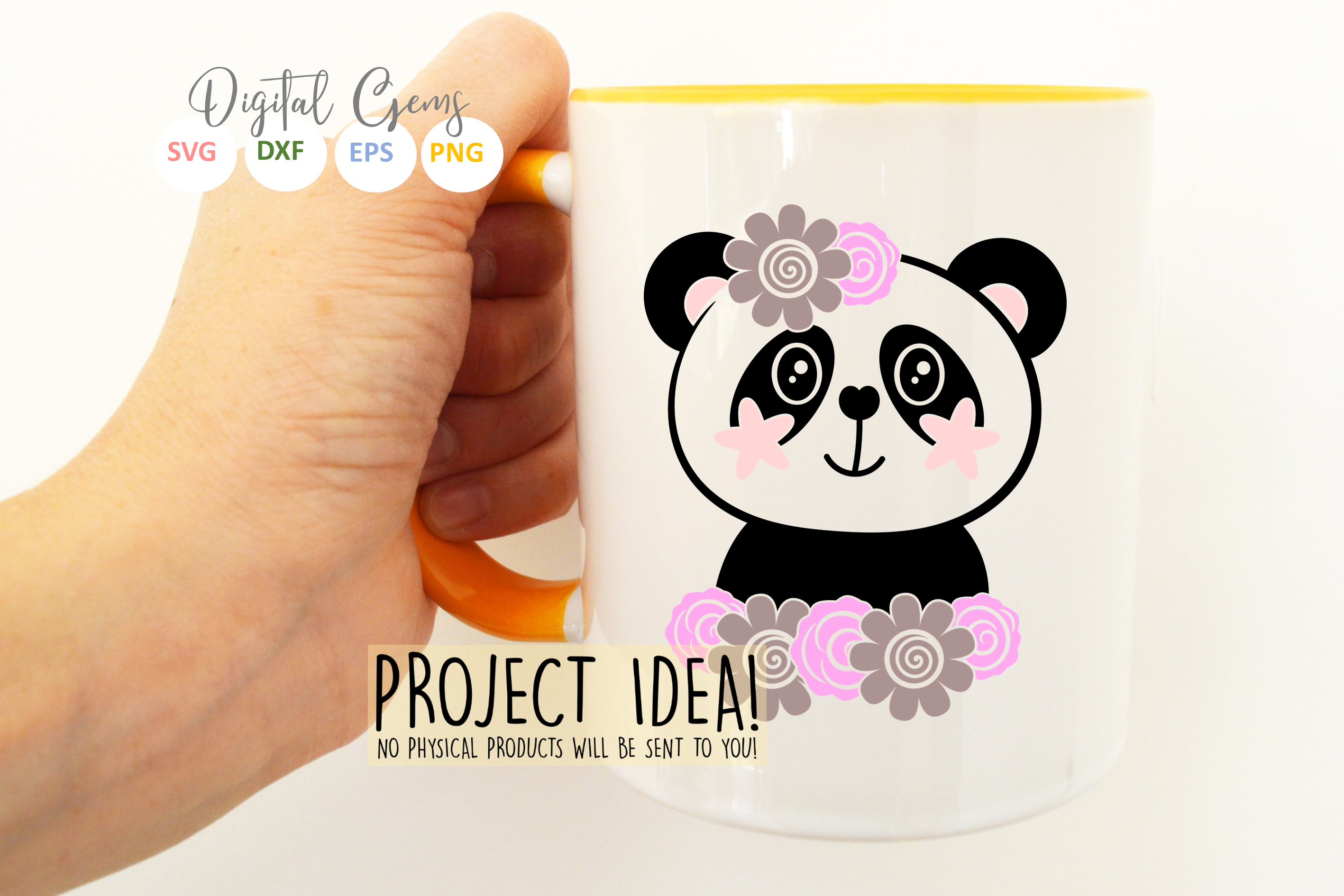 Panda designs. SVG / PNG / EPS / DXF Files example image 5