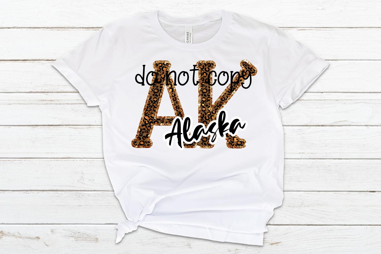 Alaska AK State Leopard Bundle example image 5