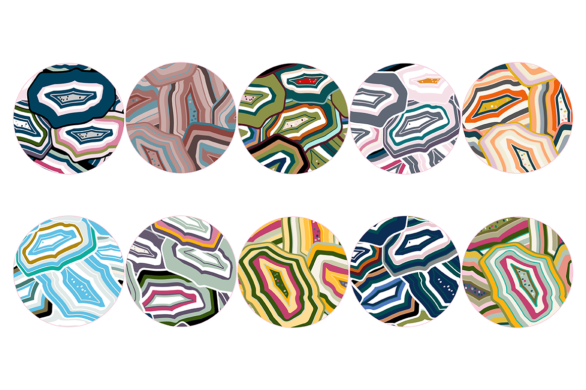 20 Agate Stones Texture Patterns example image 3