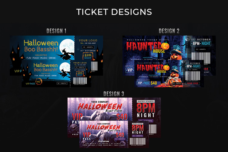 Halloween Big Bundle - flyers, banners, social media etc. example image 4
