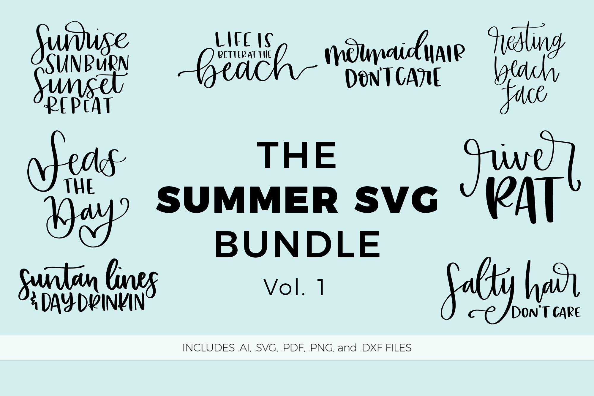 The Summer SVG Bundle, Volume 1 example image 1