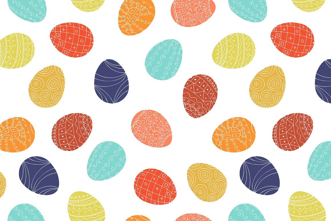 Color collection of Easter eggs. example image 5