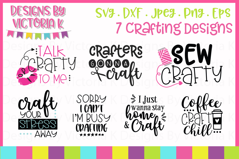 Crafting Bundle SVG cut files example image 1