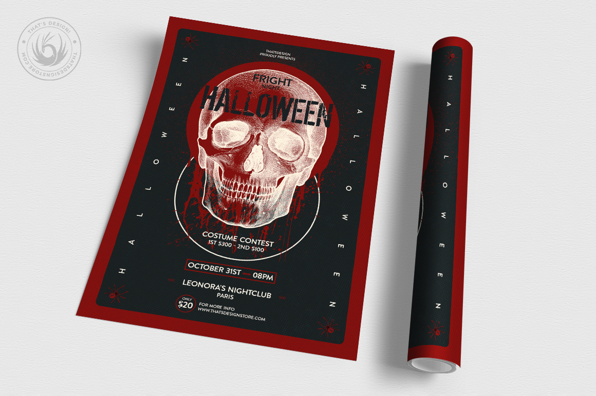 Halloween Flyer Template V25 example image 3