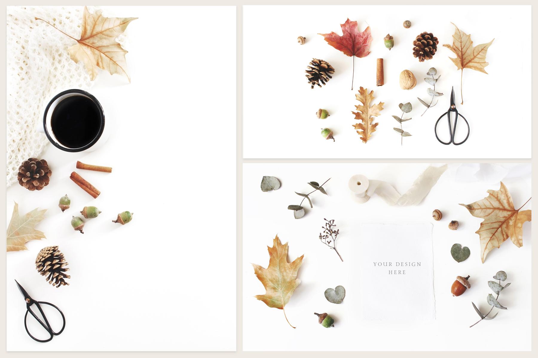 20 Charming autumn mockups & stock photo bundle example image 5