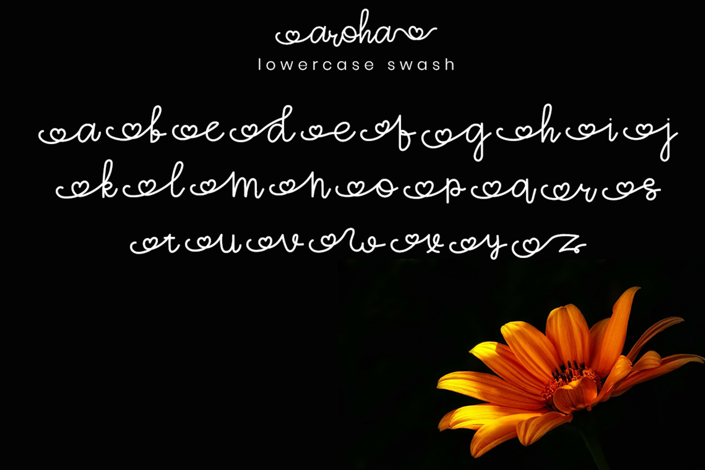 Aroha Script example image 7