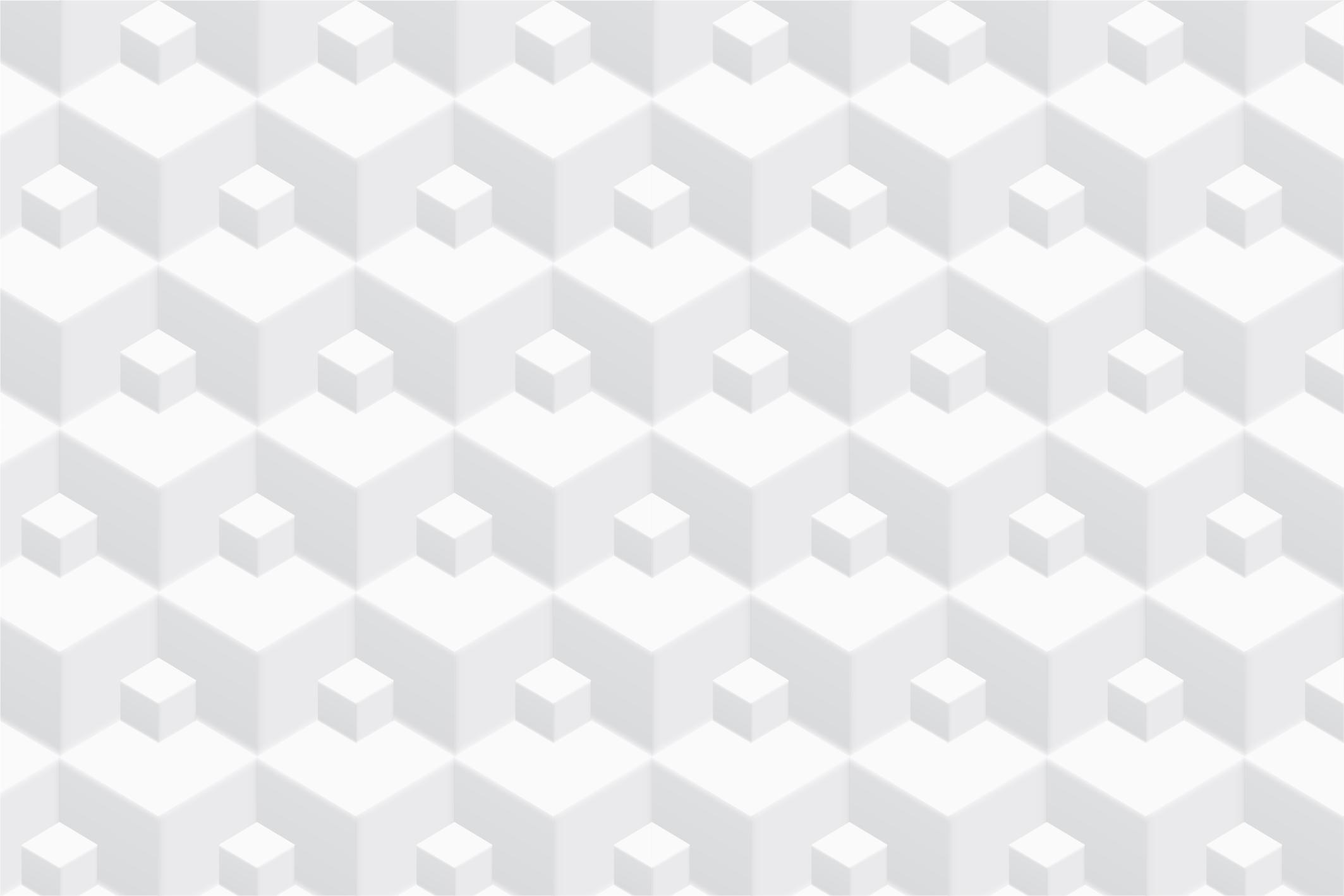 Geometric white 3d seamless textures example image 7