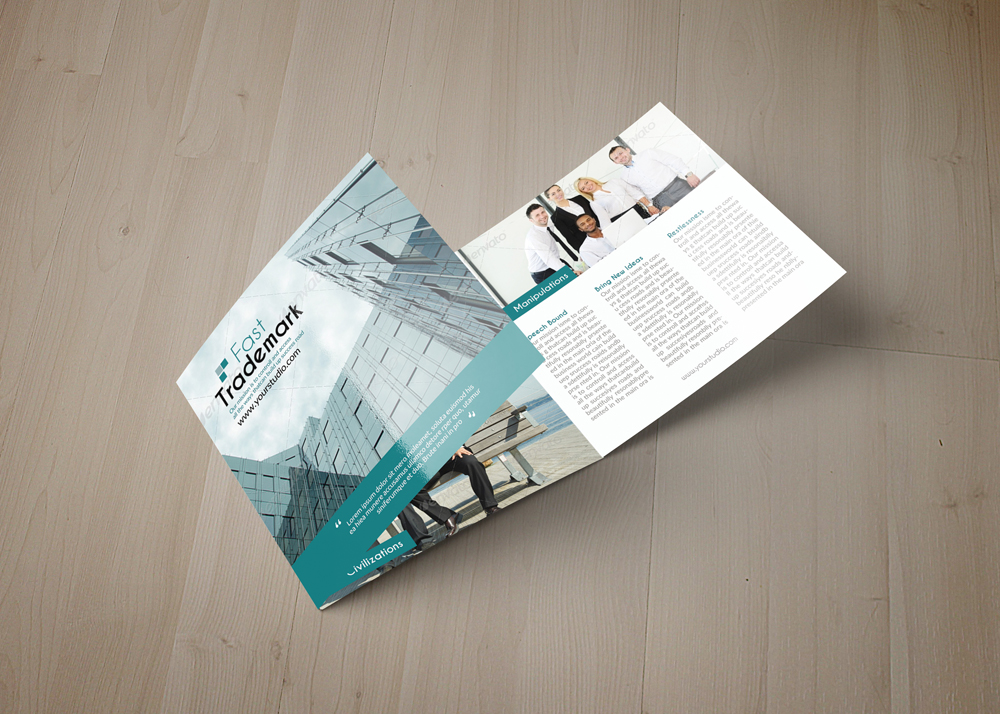 Employment Business Square Trifold Brochure example image 5