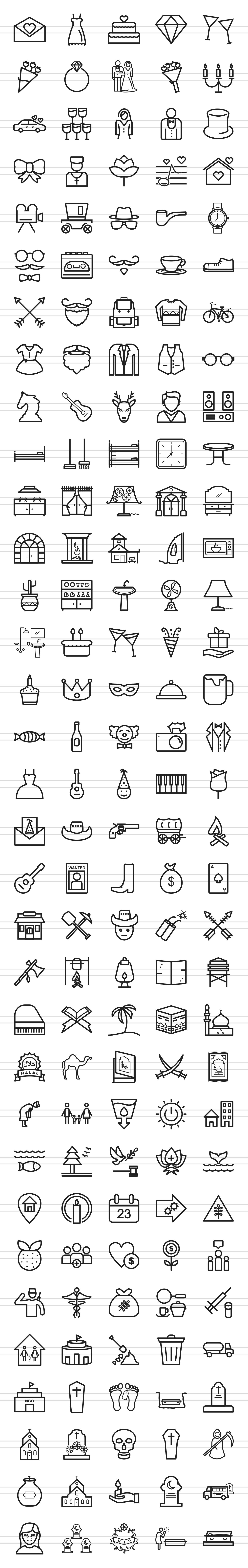 166 Lifestyle Line Icons example image 2