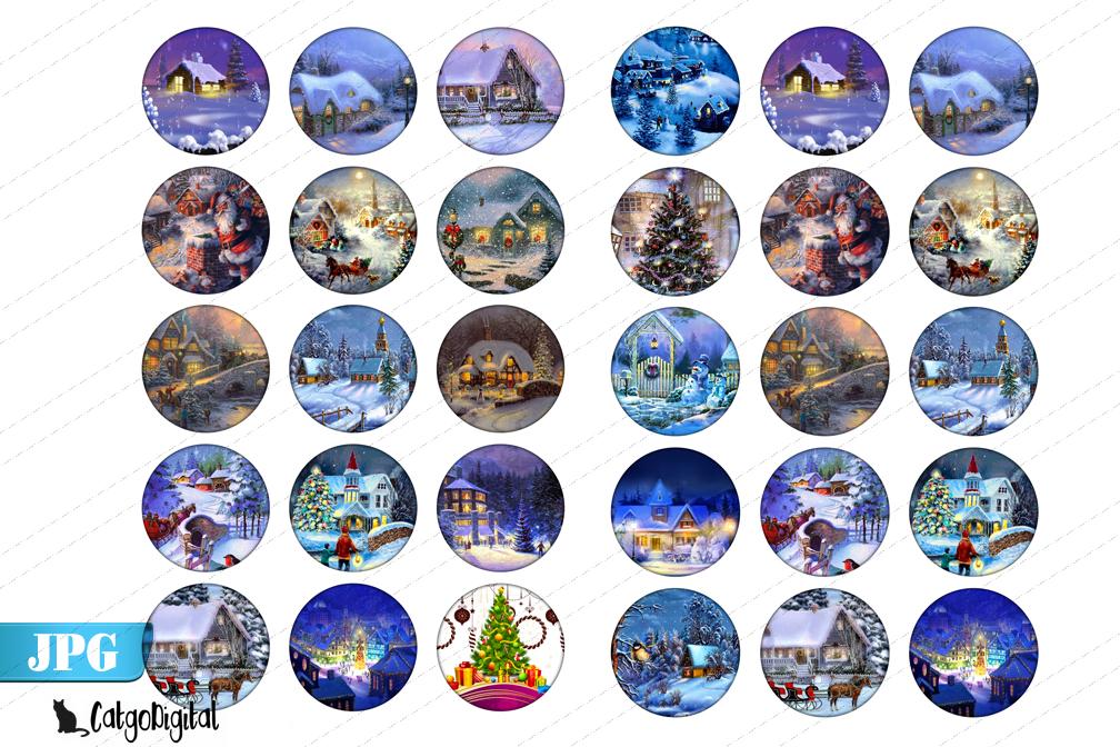 Magic Christmas circle images 1 inch bottlecap example image 2