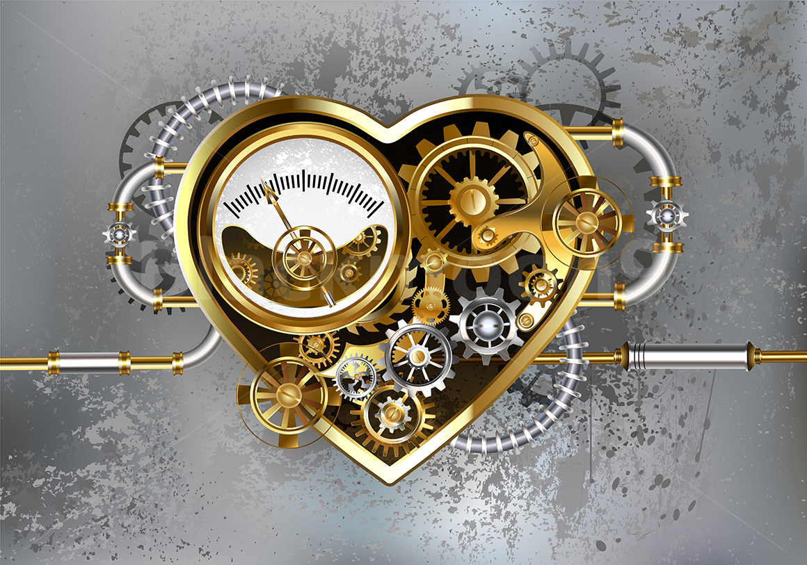 Steampunk Heart with Manometer example image 1