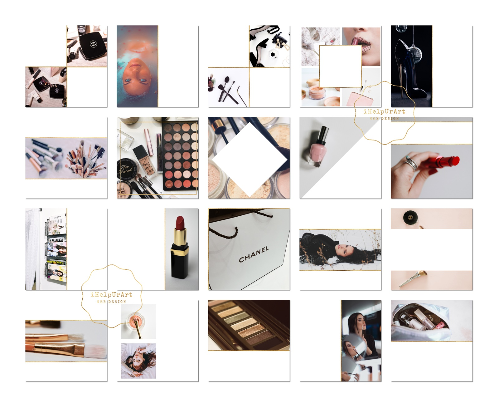 Beauty Blogger Instagram Posts Templates example image 5