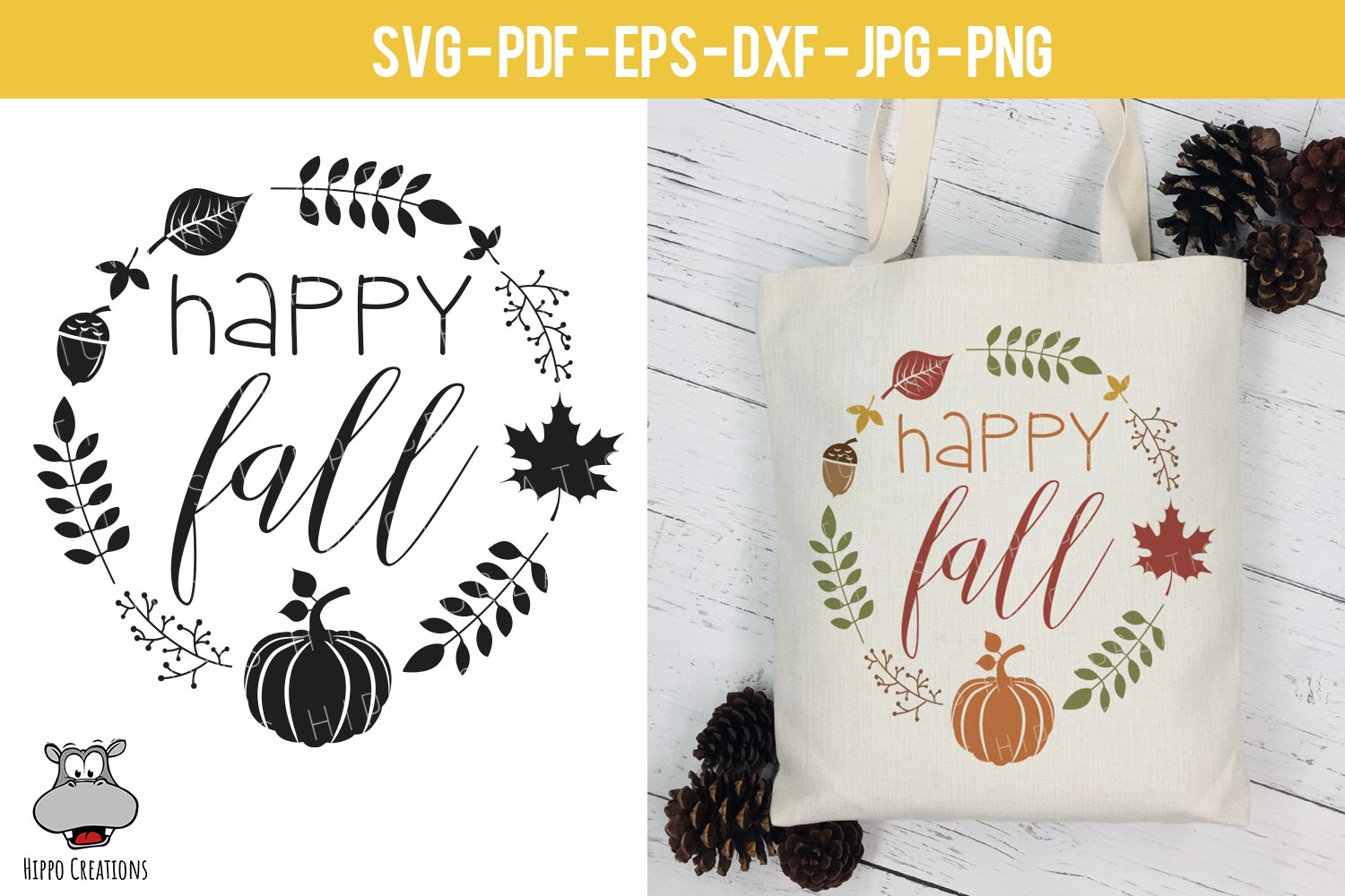 Fall Bundle SVG, Autumn Bundle, Thanksgiving, EPS DXF PNG example image 8