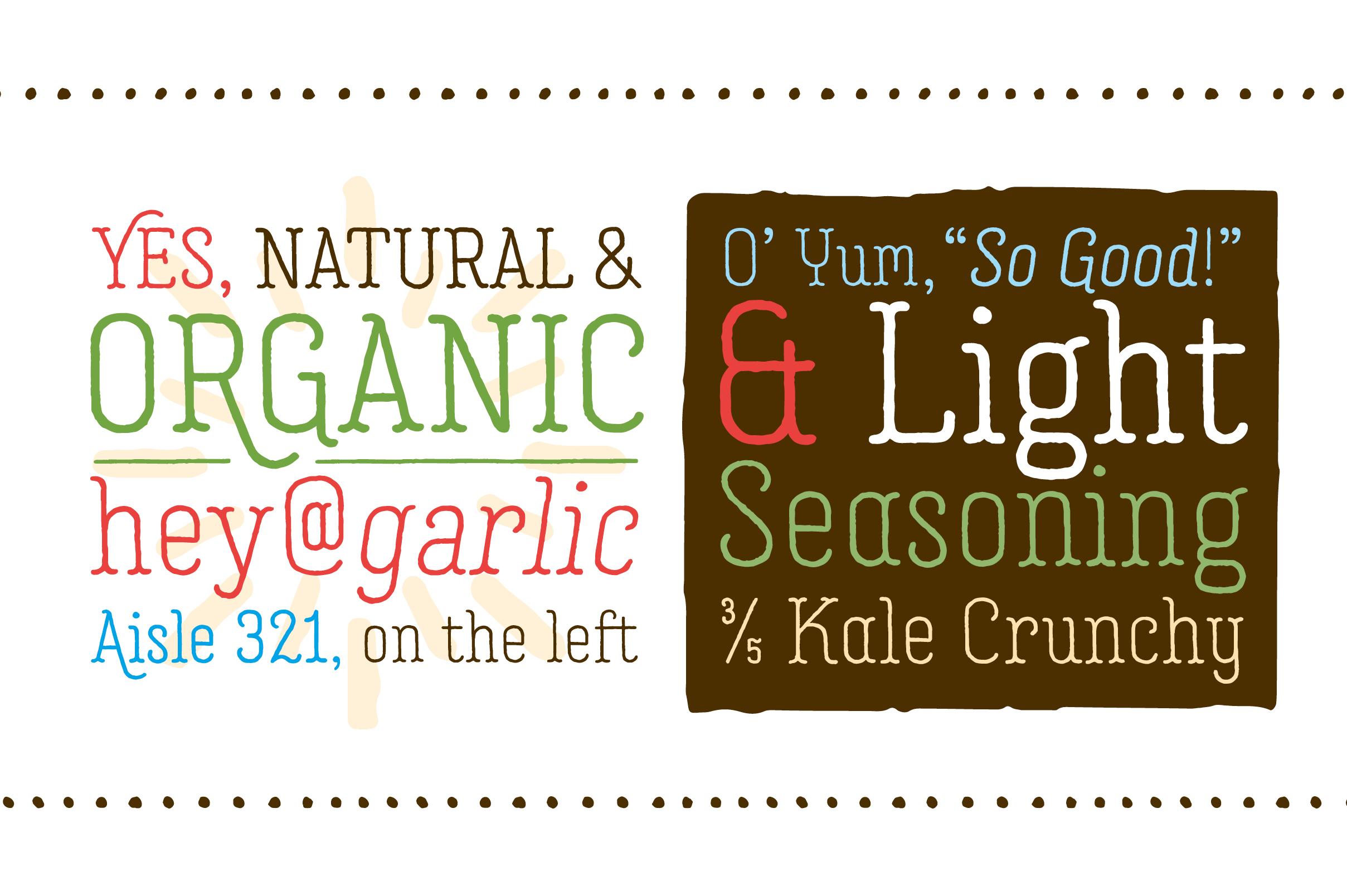 Garlic Salt Font Family example image 2