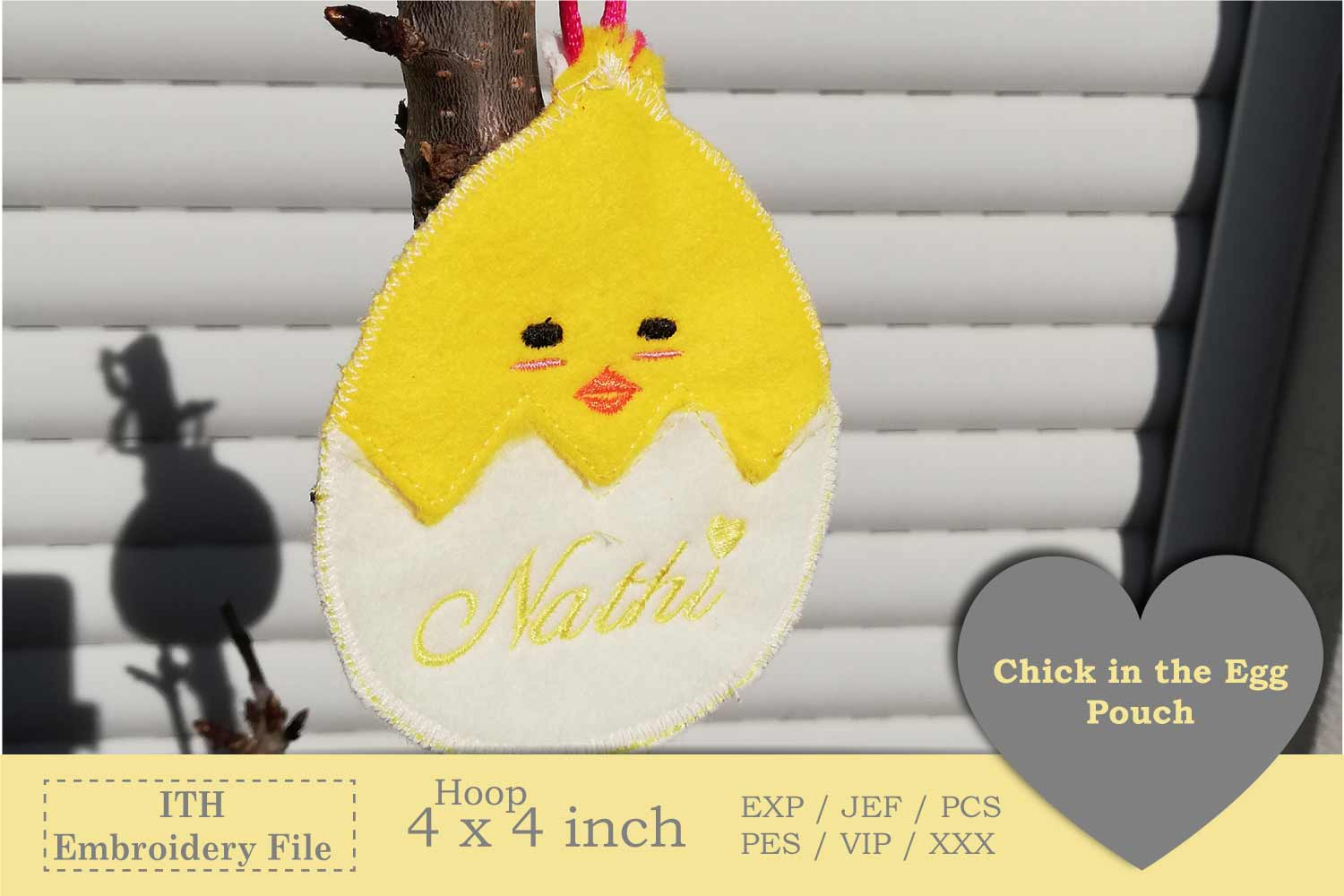 ITH - Chick in Egg Pouch - Great Idea for Money Gifts example image 3