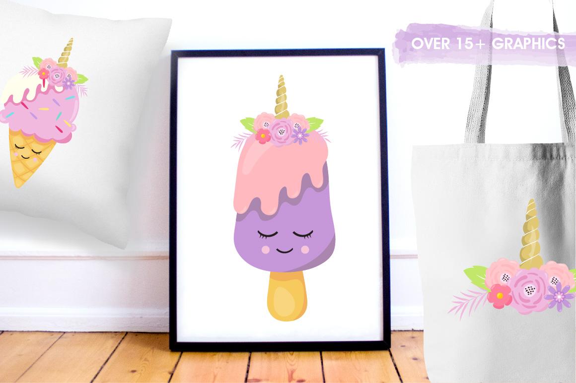 Ice Cream Unicorn graphics and illustrations example image 5