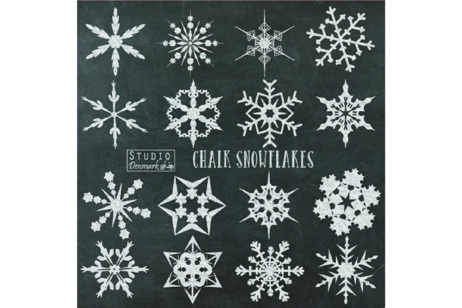 chalk snowflakes clipart chalkboard c design bundles