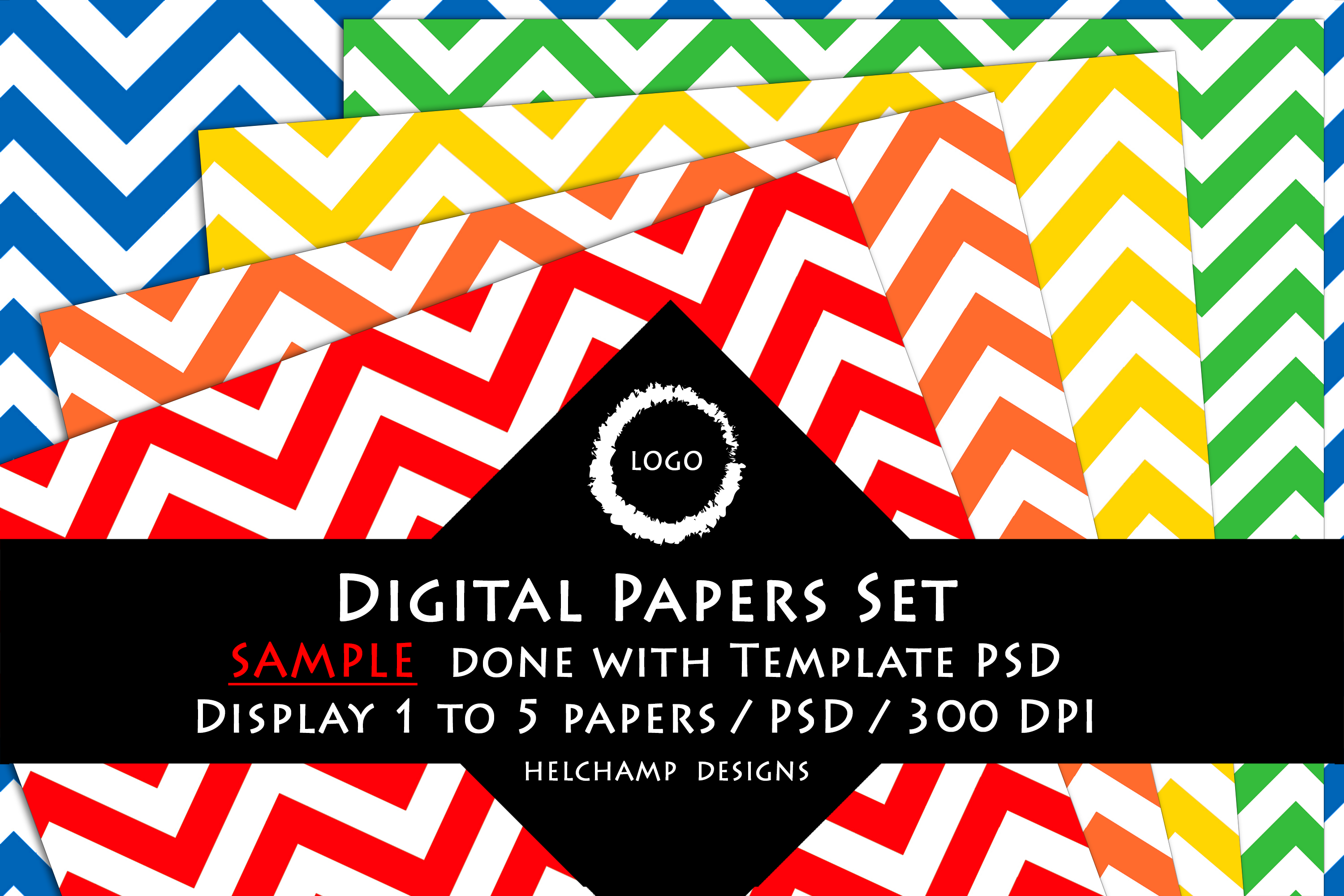1 to 5 Panels Mockup for Digital Papers - M02 example image 4