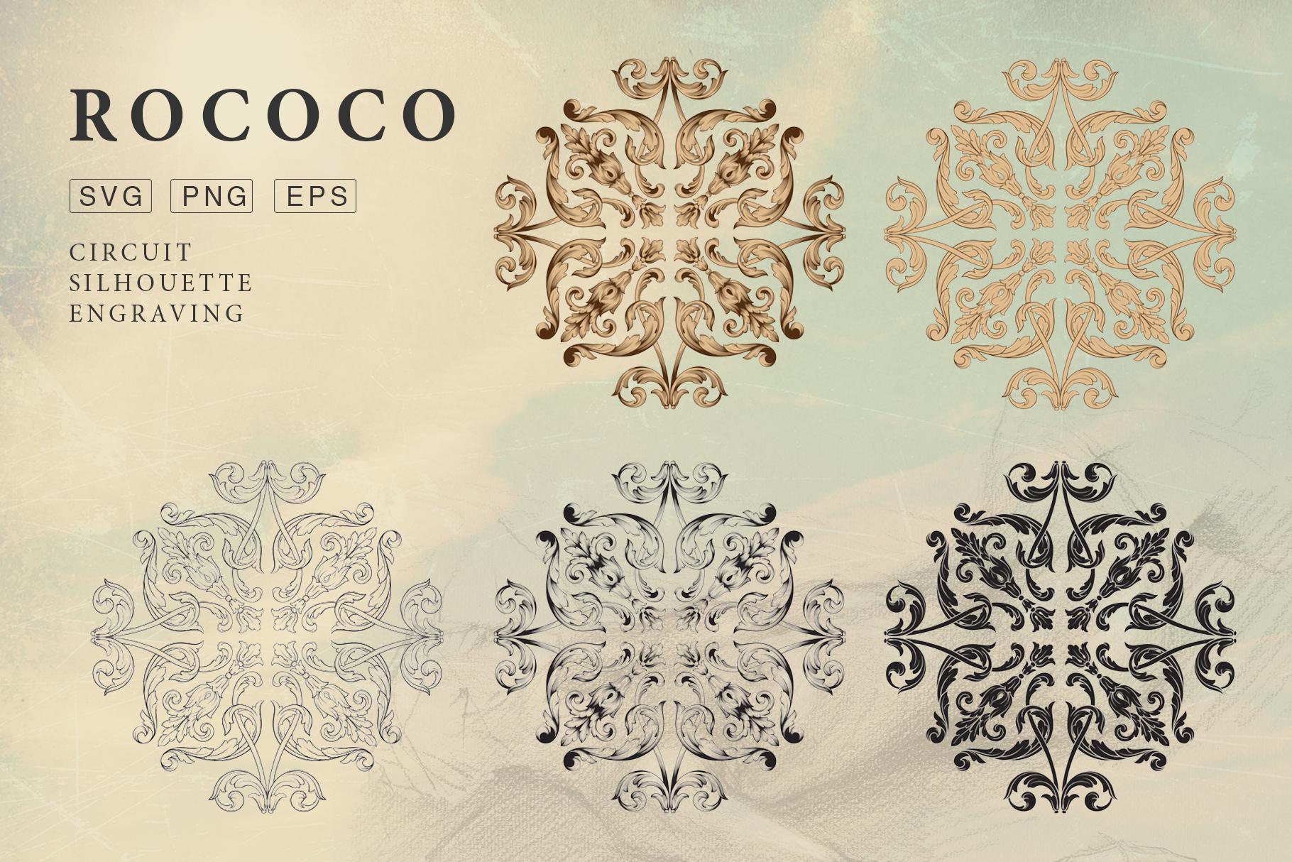 Rococo Romance Ornament page decor example image 5
