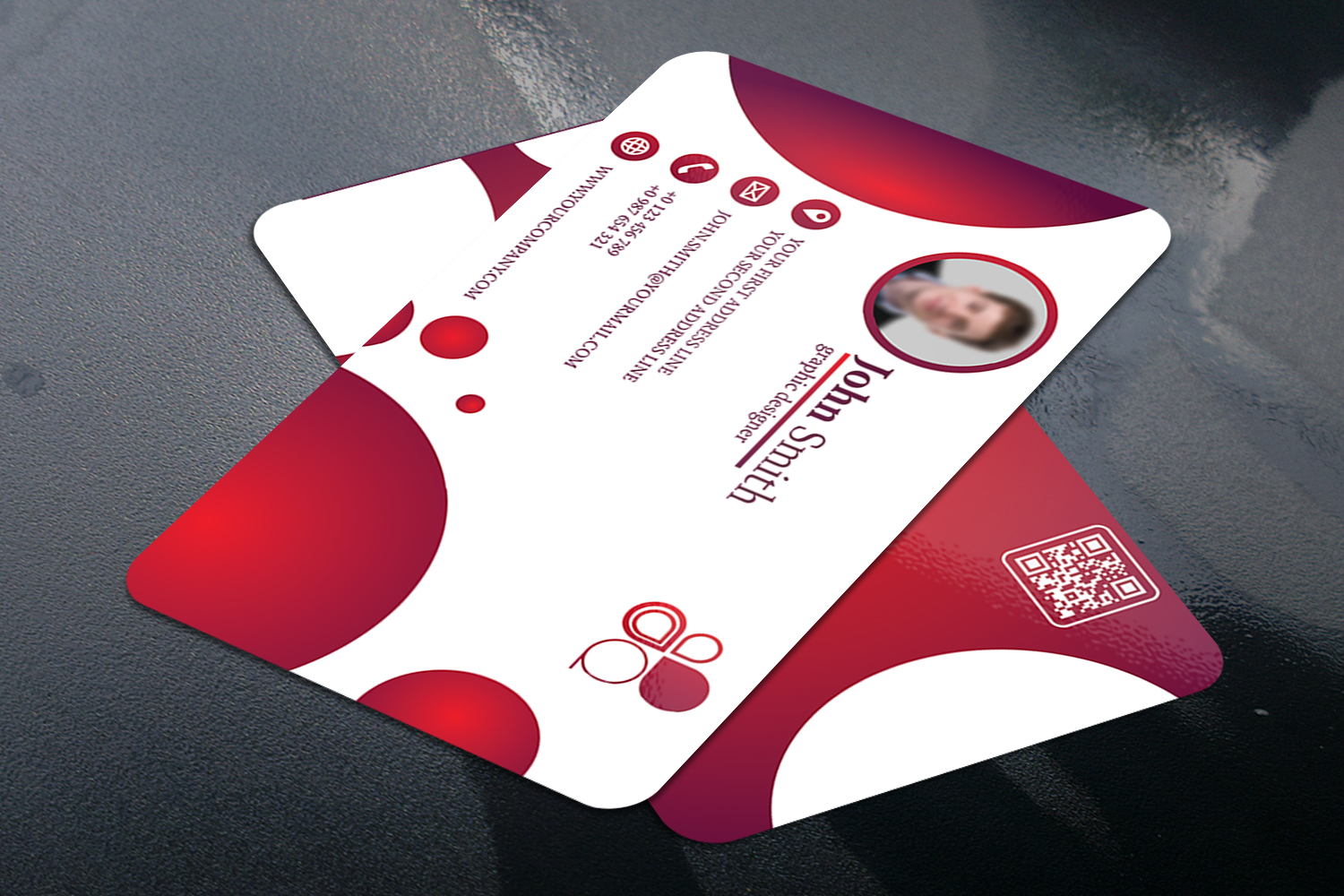 Business Card with Circle touch Visiting Card example image 2