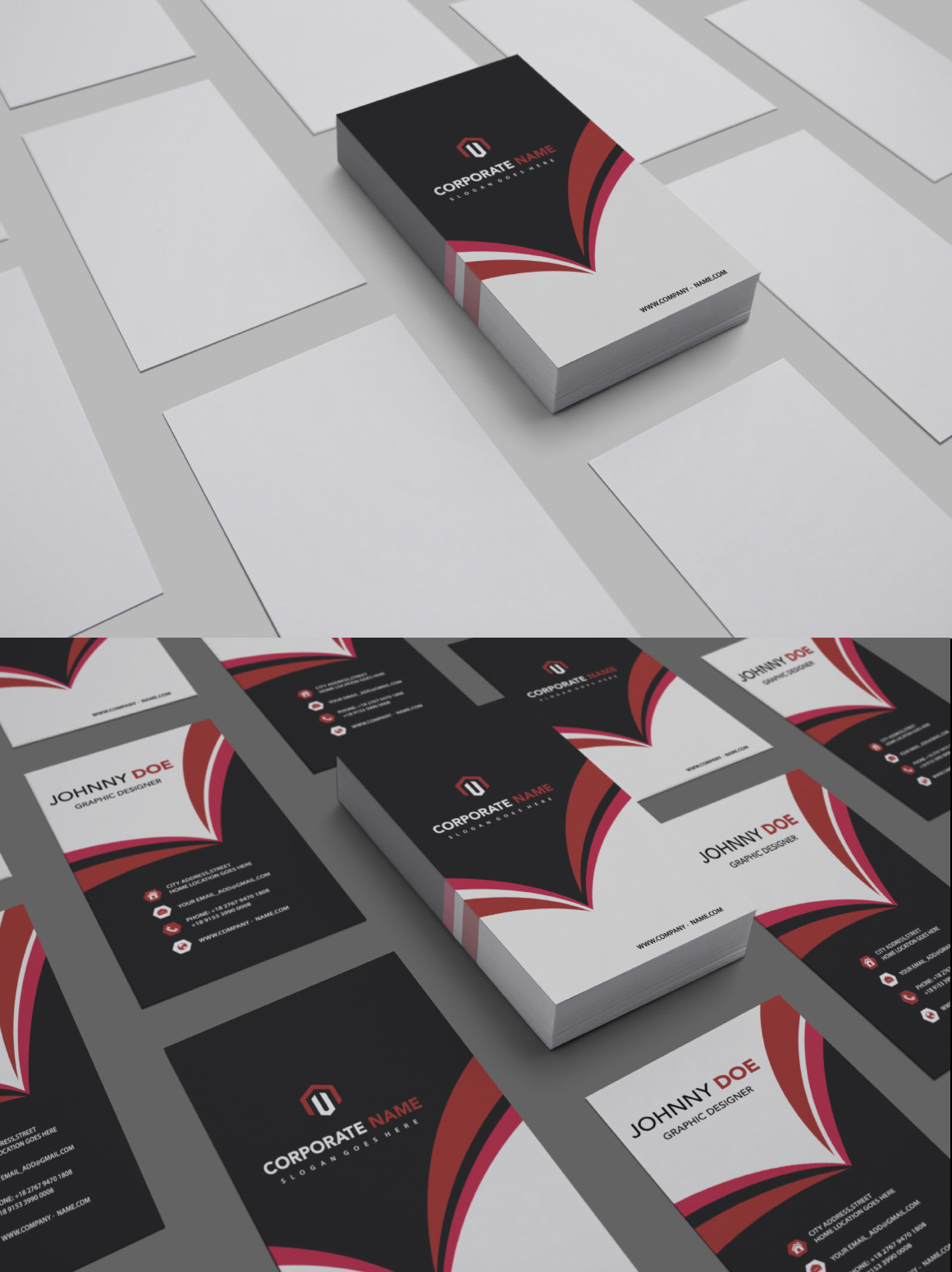 Realistic Business Card Mockups example image 15