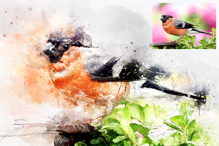 Watercolor Mixed Art Photoshop Action example image 14