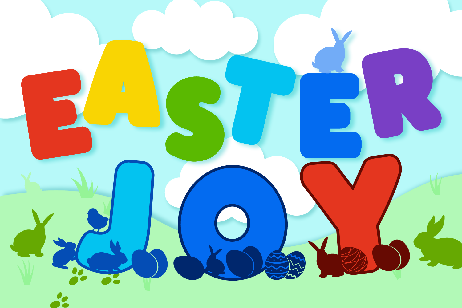 Easter Joy Font Pack | Easter Font for Cricut & Cameo example image 2