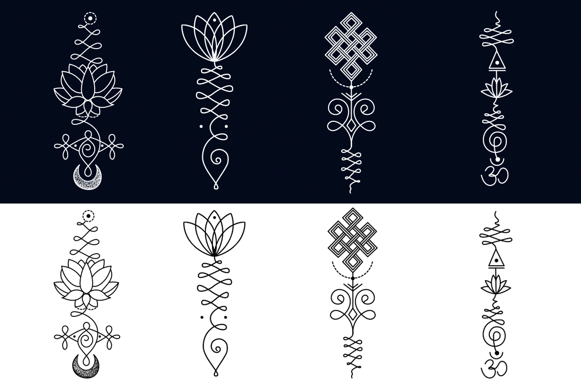 11 Unalome & lotus Sacred symbols example image 3
