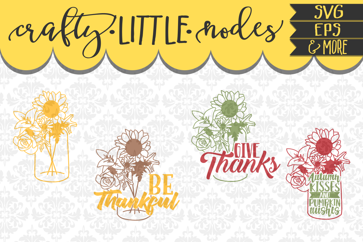 Give Thanks Cuttable Vector Set example image 1