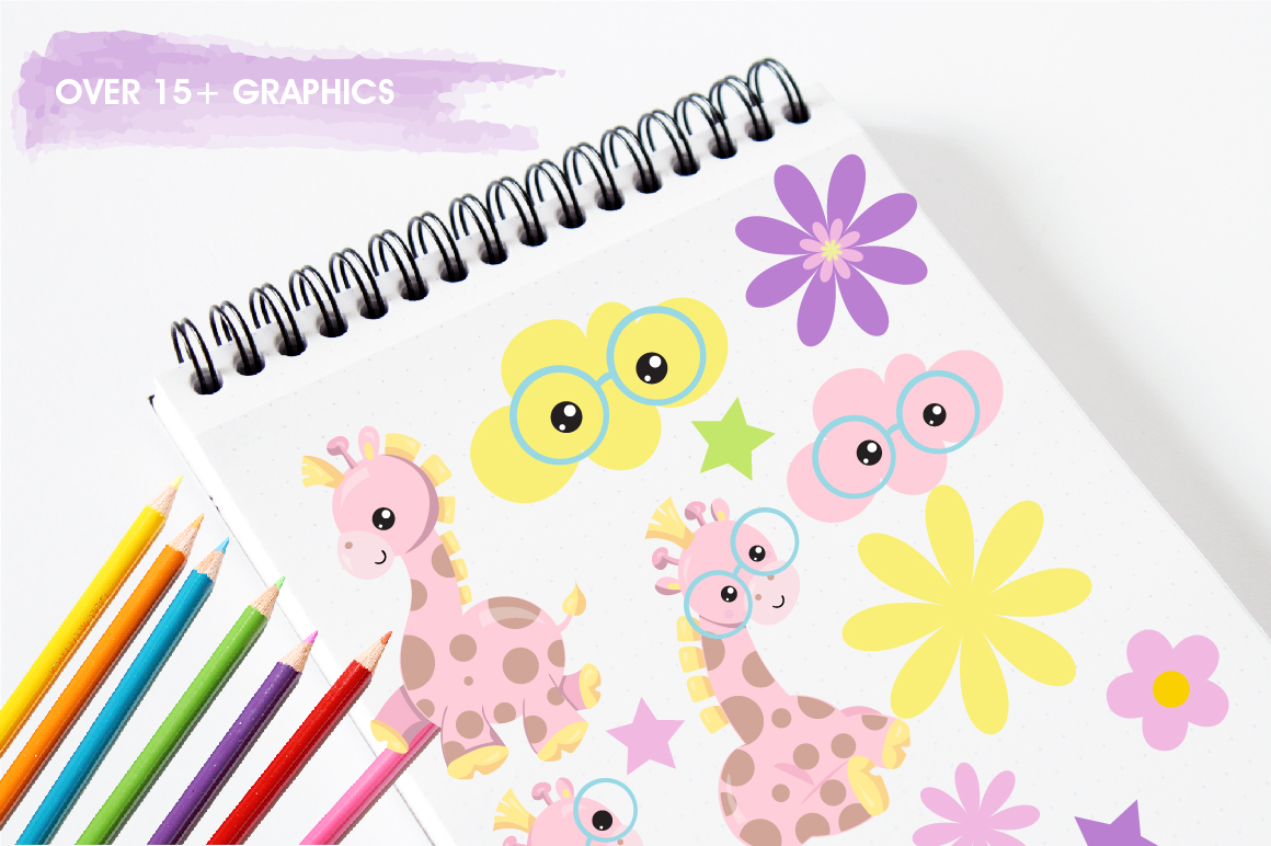 Spring Giraffe graphics and illustrations example image 3