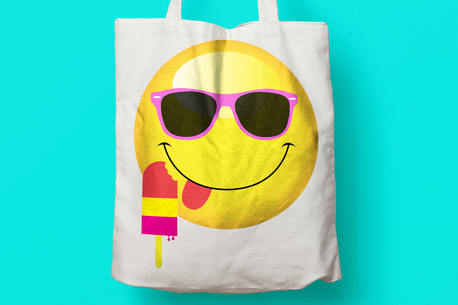 Summer Smiley Emoji Faces Graphic Clipart Bundle example image 4