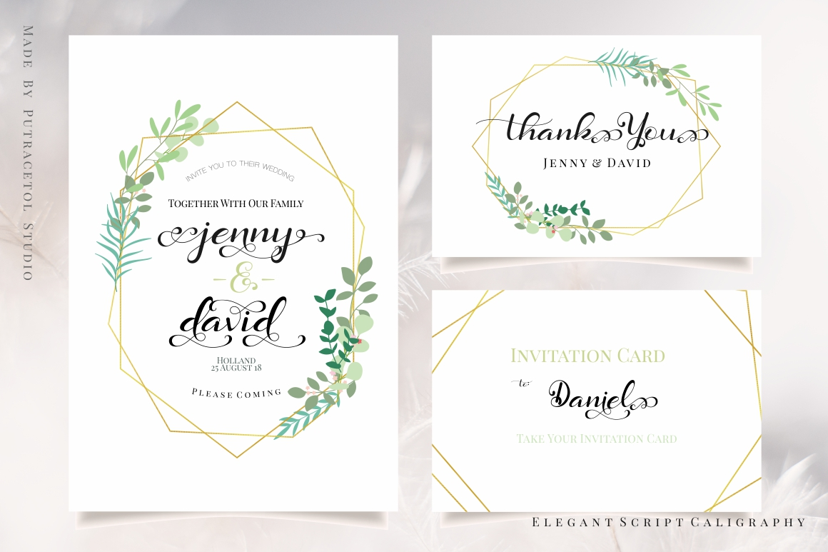 Daysha - Wedding Font example image 3
