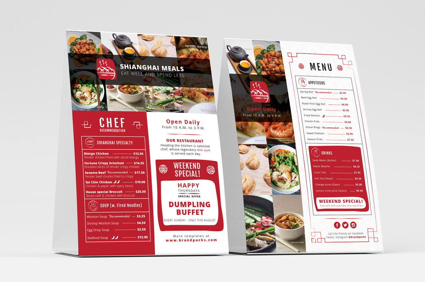 Chinese Menu & Flyer Template example image 6