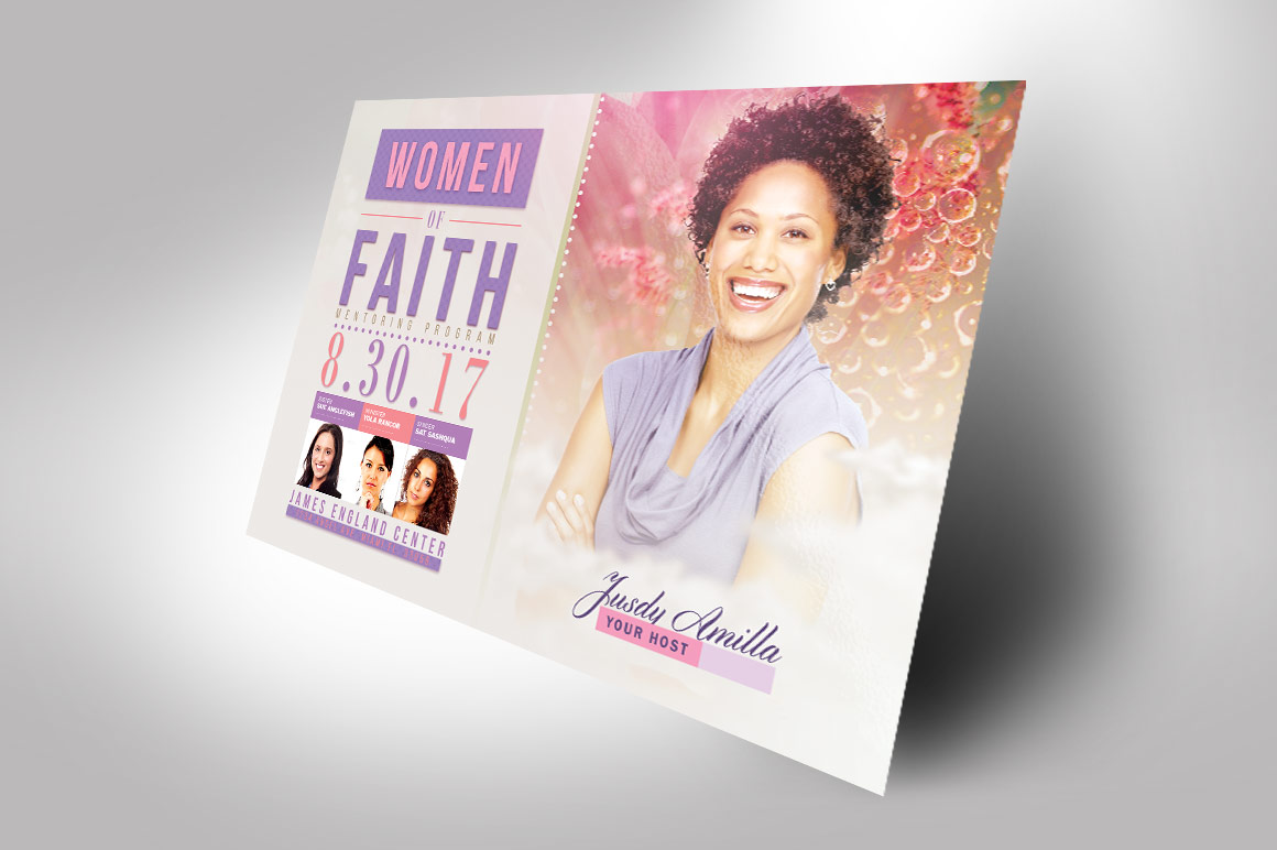 Women of Faith Conference Flyer Photoshop Template example image 2