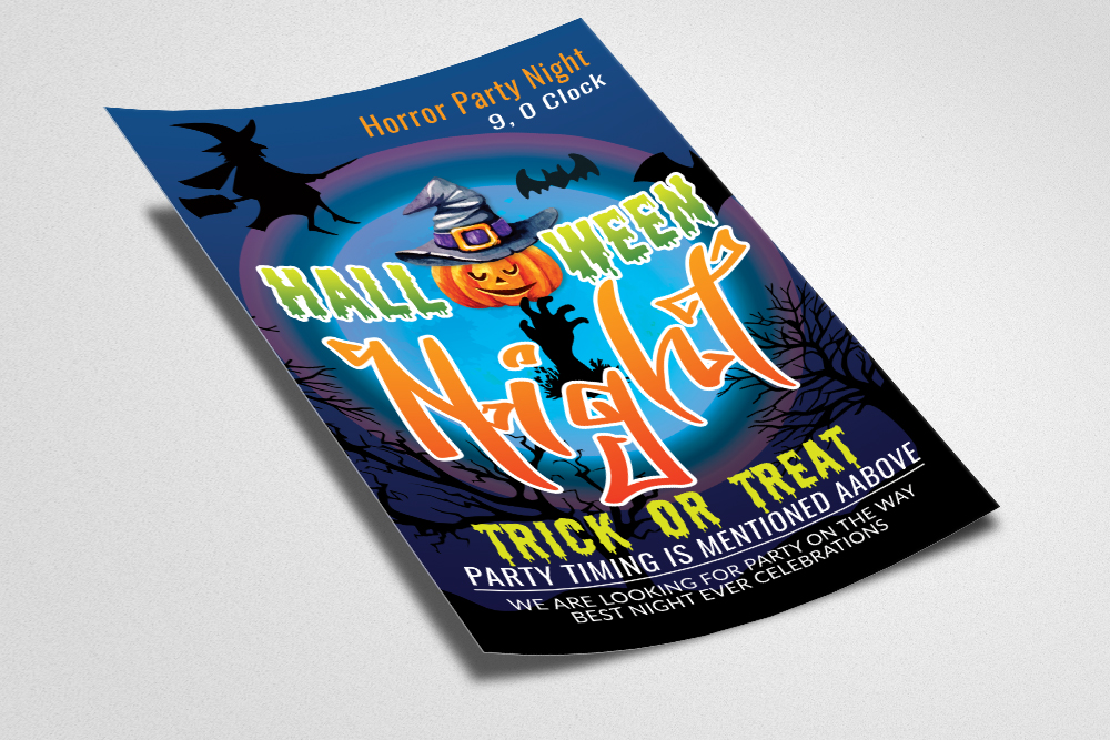 Halloween Horror Night Flyer / Poster example image 2