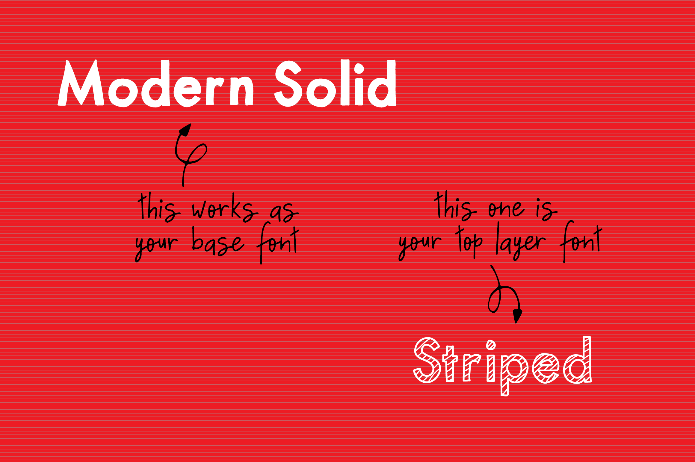 Striped & Solid - A Christmas Font Duo example image 3
