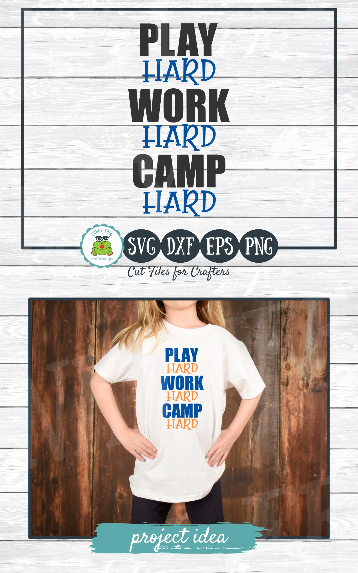 Play Hard Work Hard Camp Hard, SVG Cut File for Crafters example image 4