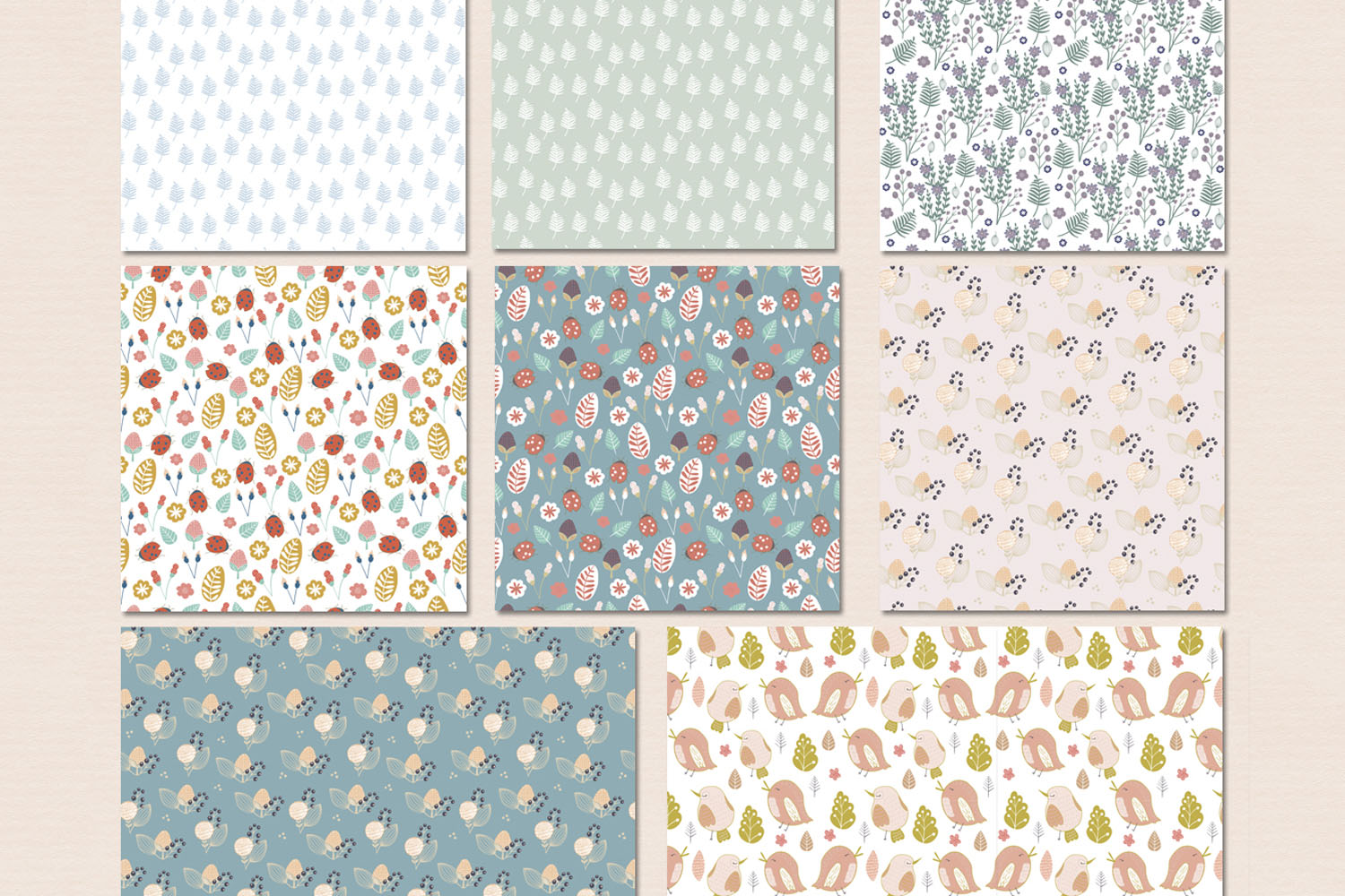Floral patterns pack example image 7