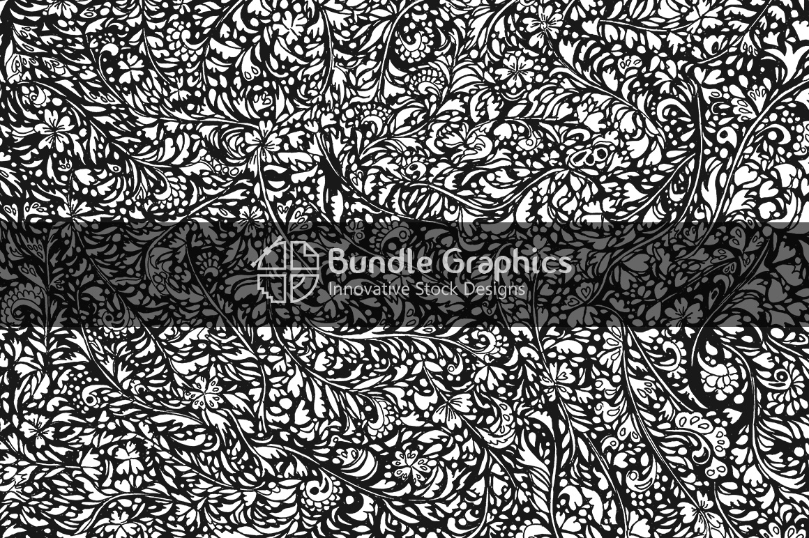 Miniature Floral Background - Handmade Ink Graphics example image 1