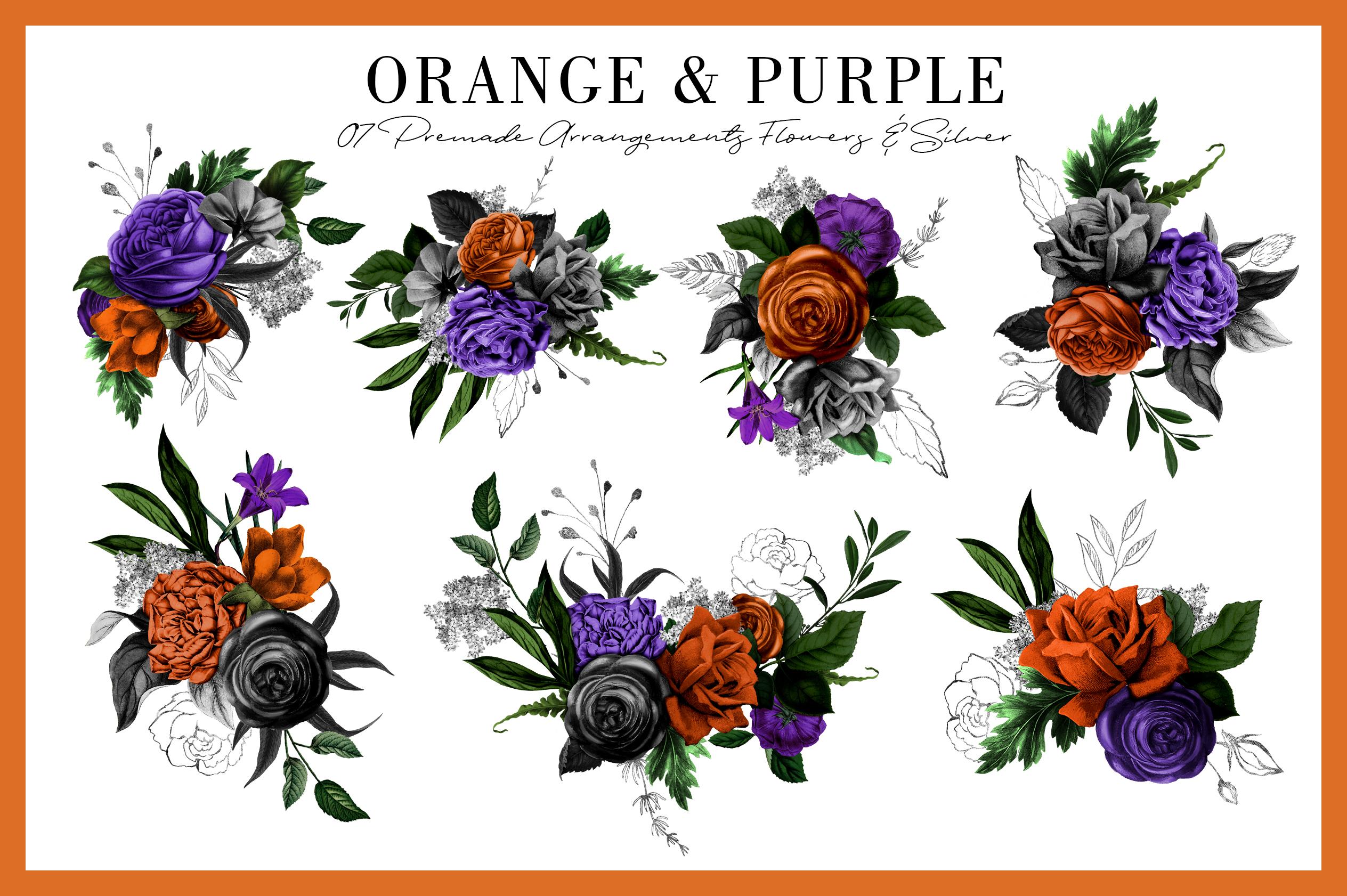 Orange & Purple Flower | Halloween Blossom example image 5