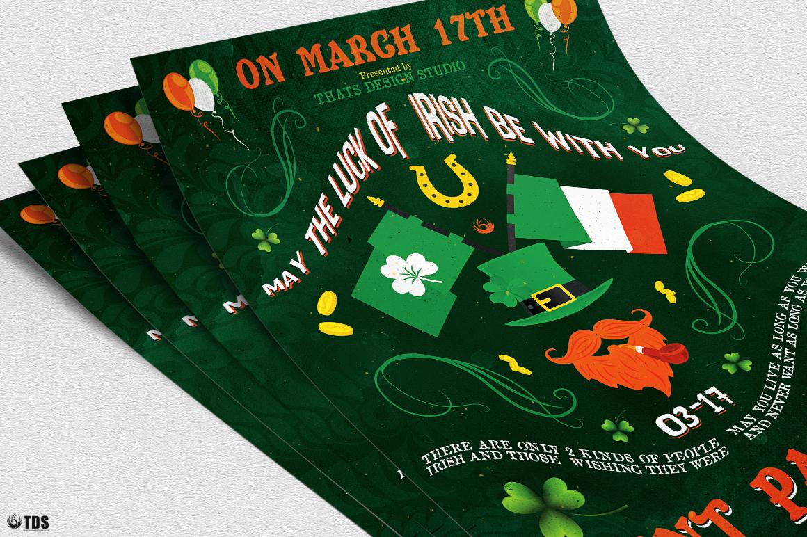 Saint Patricks Day Flyer Template V4 example image 5