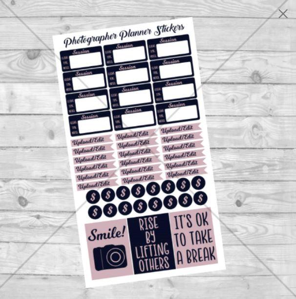 Photographer Digital Sticker Sheet example image 1